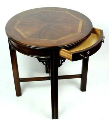 Vintage Mahogany Satinwood Banded Occasional Table - FREE Shipping [PL4747]