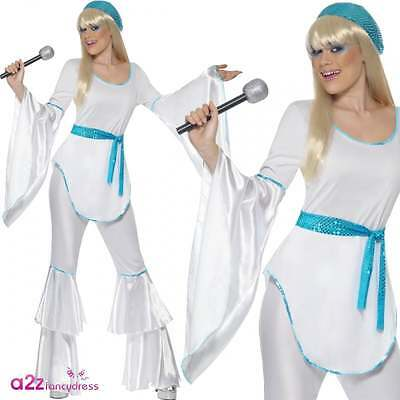 Ladies 70's Super Trooper Costume Adult Womens Eurovision Fancy Dress Outfit