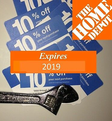 (20x) Lowes 10% off Coupons Blue Use at Home Depot only – Blue Cards exp SEPT 15