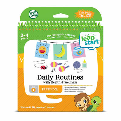 Leap Frog LeapStart Daily Routines Activity Book 40+ Replayable Activities +2yrs