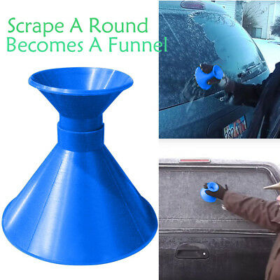 Scrape A Round Magic Cone-Shaped Windshield Ice Scraper Snow Becomes A Funnel 9