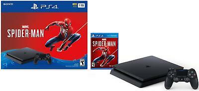 Sony PlayStation 4 PS4 1TB Marvel's Spider-Man Console Bundle Jet Black NEW SEAL