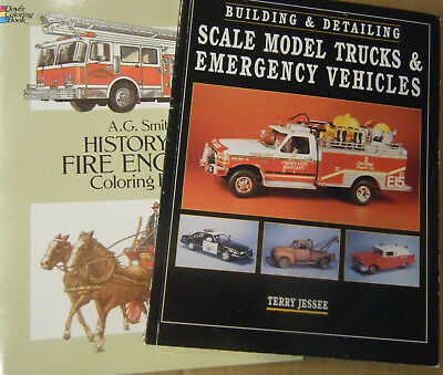 Lot of Books Scale Model Making Emergency Vehicles Fire Rescue Police & Coloring
