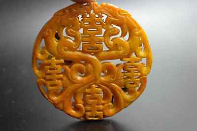 Chinese Collectable Handwork Old Jade Carve Dragon Bring Wealthy Lucky Pendant