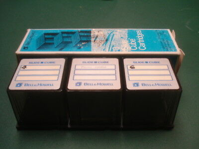 3 Bell & Howell slide cubes for 40 slides each for of 120 total with sleeve