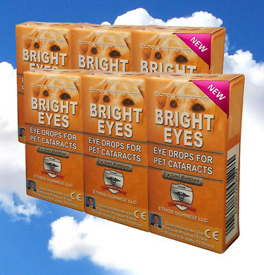 Dog's & Pet's Cataract Formulation Ethos Bright Eye's Drops Six Boxes 60ml