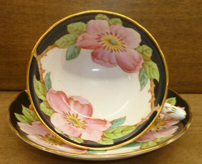 Grosvenor Fine Bone China Cup and Saucer ' Pillar Rose' Pattern
