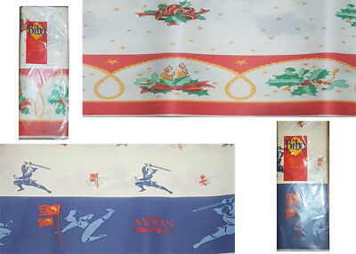 DISPOSABLE CHRISTMAS PAPER TABLE CLOTH COVER 120X180cm Red & White FAST DISPATCH
