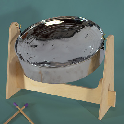 Mini Steel Pan Drum - SALE!!! - Lowest Price!!! drum only. Chrome Finish