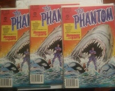 "Lot of 3 1992 ""The Phantom"" No.1  Collector's Edition #1 UNITED KINGDOM"