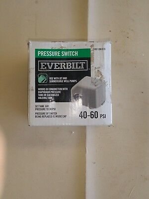 New Everbilt 40/60 Water Well Jet Pump Pressure Switch