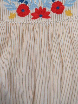 NEW -Nutmeg Baby Girl Striped Short Sleeve Lined Dress- From Newborn to 12 Month