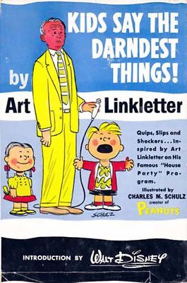 Art Linkletter / Kids Say The Darndest Things! Illustrated 1958