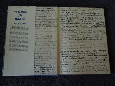 SAILORS IN BOOTS 1943 SIGNED by 109 WWII US Navy Veterans HC