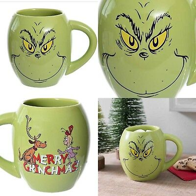 Dr Suess MERRY GRINCHMAS Coffee Mug - How the GRINCH Stole Christmas NEW