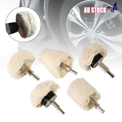 5PC Polishing Buffing Pads Mop Wheel Drill For Polisher Aluminum Stainless Steel