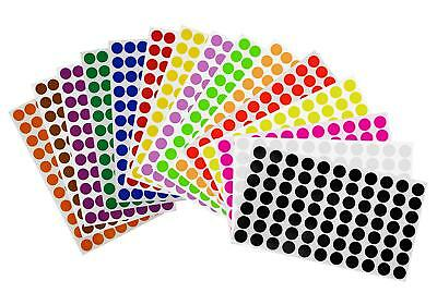 Sticker Dots 15mm Adhesive Round Labels  ~ 5/8 DIY Projects Circles 1155 Pack