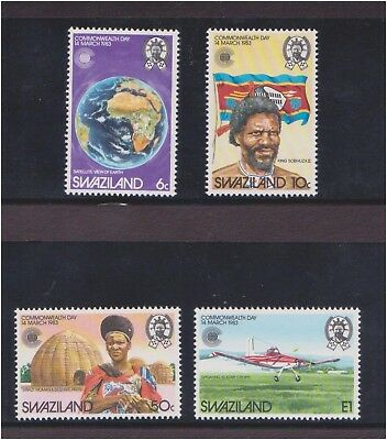 (Q25-36) 1983 Swaziland 4stamps commonwealth collection MUH (36AK)