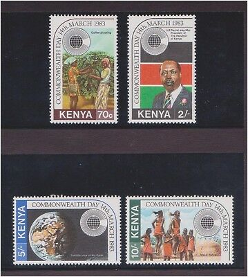 (Q25-19) 1983 Kenya 4stamps commonwealth collection MUH (19S)