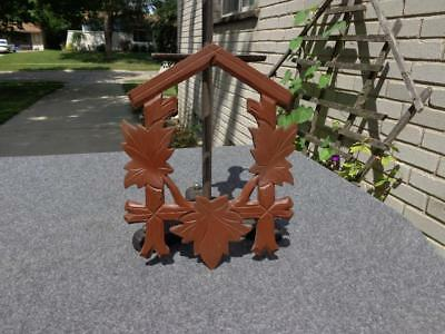 Black Forest Cuckoo Clock Carved Front Regula Heco Herr Kuner Sohne Schatz