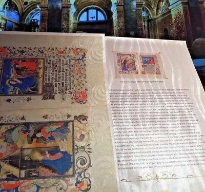 Hours of the Virgin-NATIVITY Flight into Egypt.  Manuscript Gold Accents. NEW