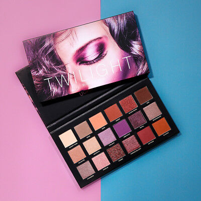 Ucanbe 18 Colors Twilight Shimmer and Matte Rose Gold Textured Eyeshadow Palette