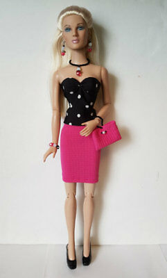 "TYLER Clothes Tonner 16"" TOP, SKIRT, PURSE & JEWELRY HM Fashion NO DOLL d4e"