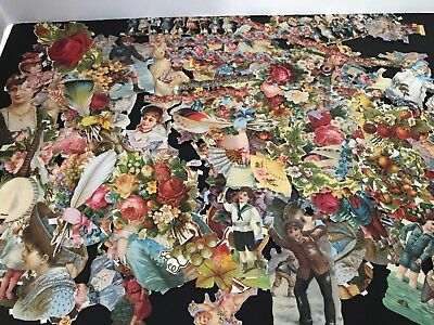 Large lot of vtg. Paper Die Cut Scrap140+ pieces made in England and Germany