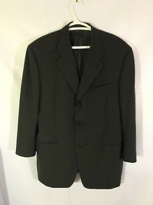 Canali Proposta Mens 3 Button Blazer Sport Coat Jacket Wool Black Italy 42