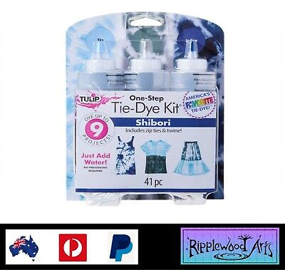 Tulip One Step - 3 Color Tie Dye Kit - SHIBORI - Dyes up to 9 Projects