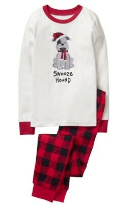 Gymboree NWT Boys Holiday Dog Snooze Hound Christmas Pjs Plaid Size 6