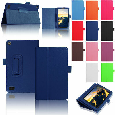 Magnetic Smart Slim Leather Stand Case For Amazon Kindle Fire HD 8 2018 8th Gen