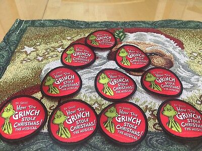 Dr Seuss lot of 10 how the grinch stole Christmas patch musical