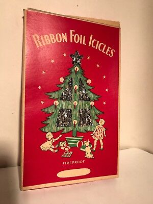 1930s Lead Icicles RIBBON FOIL ICICLES Metal Goods Corp Vintage Christmas (#2)