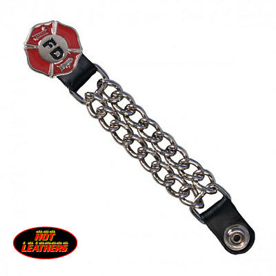 """Hot Leathers® Fire Department Vest Extender 4"""" VXC1014 Made in USA Double Chain"""