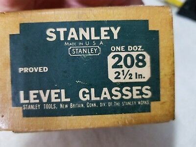 """One, New, Vintage STANLEY # 208, Replacement Level Glass, 2-1/2"""" L x 3/8"""" Thick"""