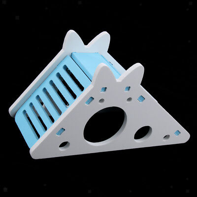 Hamster Cage Exercise Mouse Swing Squirrel Guinea Pig Ladder Toys Blue