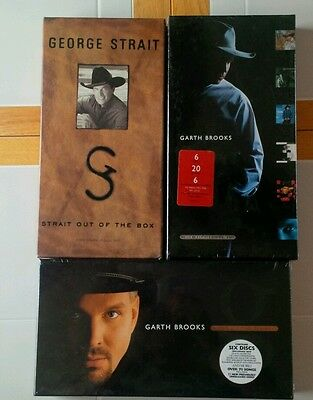 Garth Brooks & George Strait Box Sets Sealed Rare Lot of 3