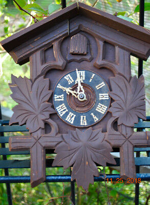 Large German Black Forest Cuckoo Clock - For Parts Or Repair  No Reserve!