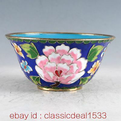 Chinese Cloisonne Filigree Handwork Flower Bowl CC0464