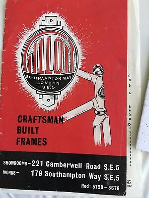 Rare Gillott frame and bicycle catalogue vintage collectible bike