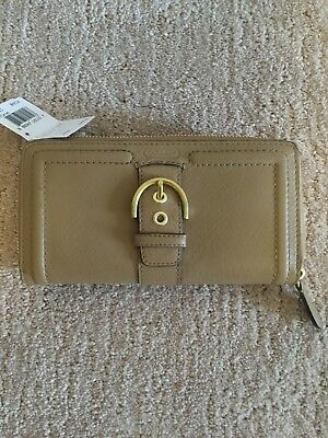 buy online 43e91 7dd2b COACH CAMPBELL LEATHER Buckle Zip Around Accordion Wallet ...