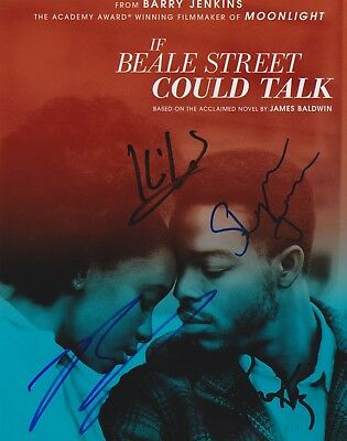 If Beale Street Could Talk signed 8x10 photo x4 regina king barry jenkins