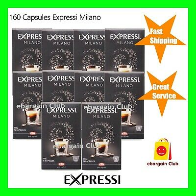 160 Capsules Expressi Coffee Pods Milano Value Pack (10 boxes) ALDI Intensity 10