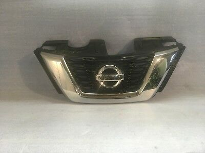 FITS 2018 NISSAN Rogue - Gloss Black ABS Overlay Grille