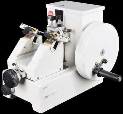 Leitz 1512 Lab Tabletop Manual Rotary High Precision Cutting Tool Microtome