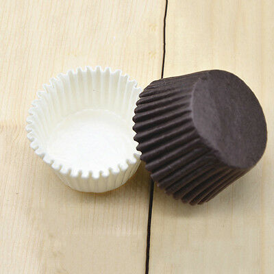 100pcs/lot White/Coffee Color Baking Muffin Cupcake Paper Cups Liner Wrapper LD