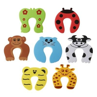 7Pcs Children Baby Safety Cartoon Door Stopper Clip Clamp Pinch Hand Security