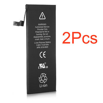 """2xNew 1810mAh Li-ion Internal Battery Replacement w/Flex Cable for iPhone 6 4.7"""""""