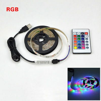 LED strip RGB IP20 2835 SMD DC 5V USB 1m 3m 5m remote control USB cable adapter